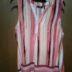 Apt 9 worn just once in pink and orange stripe L.